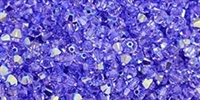532804PLAVAB - 4mm Swarovski Crystal Provence Lavender AB Bicone Crystals 25 count