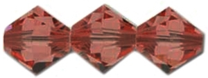 532804RMAG - 4mm Swarovski Crystal Red Magma Bicone Crystals 25 count