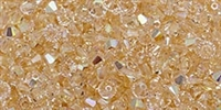 532804SILAB - 4mm Swarovski Crystal Silk AB Bicone Crystals 25 count
