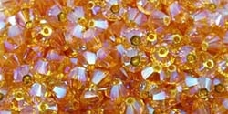 532804SUN2AB - 4mm Swarovski Crystal Sunflower 2AB Bicone Crystals - 25 count