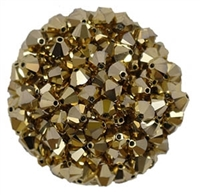 532806AU2AB - 6mm Swarovski Bicone Crystals - Aurum 2AB - 25 count
