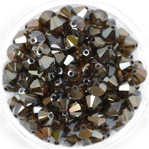 532806CBS2 - 6mm Swarovski Bicone Crystals - Crystal Bronze Shade 2AB - 25 count
