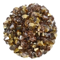 532806CRG - 6mm Swarovski Bicone Crystals - Crystal Rose Gold - 25 count