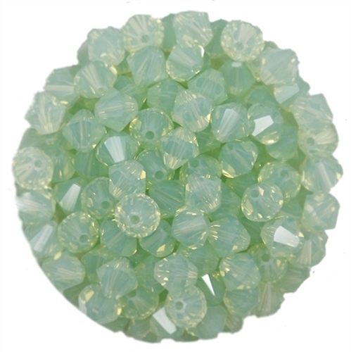 532806CRYSOOP - 6mm Swarovski Bicone Crystals - Chrysolite Opal - 25 count