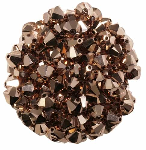 532806ROGL2 - 6mm Swarovski Bicone Crystals - Rose Gold 2AB - 25 count