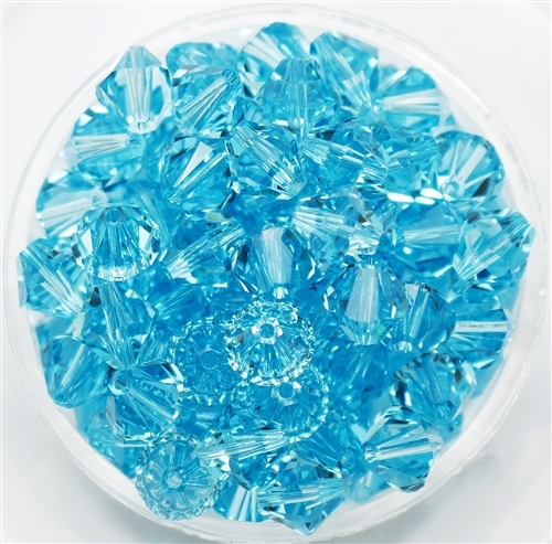 532808LTTURQ - 8mm Swarovski Crystal Light Turquoise - 1 count