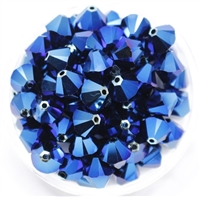 532808METBLU2AB - 8mm Swarovski Crystal Metallic Blue 2AB - 1 count