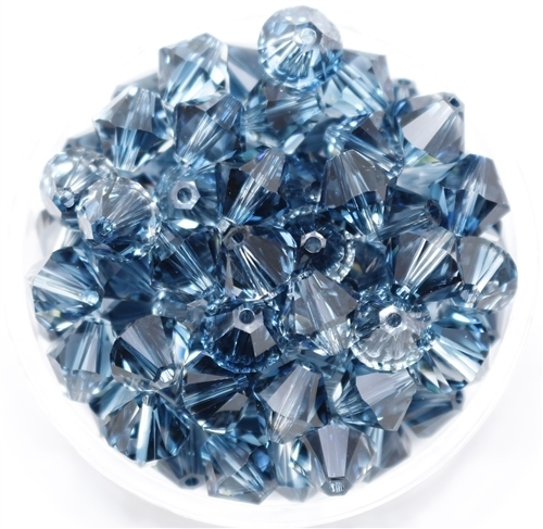 532808MONT - 8mm Swarovski Crystal Blend Colors Crystal Clear and Montana - 1 count