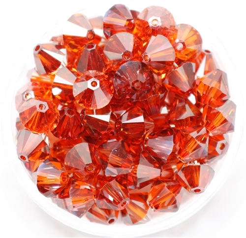 532808RDMAG - 8mm Swarovski Crystal Red Magma - 1 count