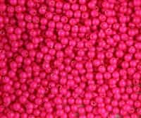 3mm Swarovski Crystal Neon Pink Pearls - 50 count