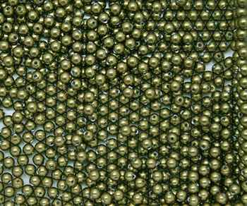 581003GRNLT - 3mm Swarovski Crystal Light Green Pearls - 50 count