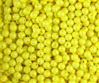 4mm Swarovski Crystal Neon Yellow Pearls - 50 count