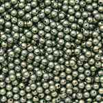 4mm Swarovski Crystal Iridescent Green Pearls 50 count