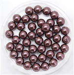 581006BURG - 6mm Swarovski Crystal Burgundy Pearls - 10 Count