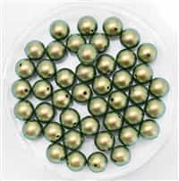 581006IGRN - 6mm Swarovski Crystal Iridescent Green Pearls - 10 Count