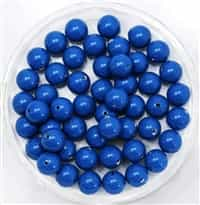 581006LAP - 6mm Swarovski Crystal Lapis Pearls - 10 Count