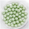 581006PSTLGRN - 6mm Swarovski Crystal Pastel Green Pearls - 10 Count