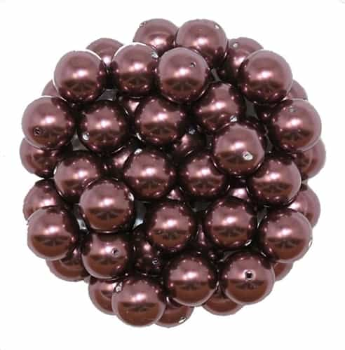 581008BURG - 8mm Swarovski Crystal Burgundy Pearls - 1 Count