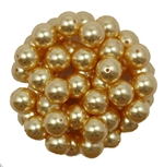 581008GLD - 8mm Swarovski Crystal Gold Pearls - 1 Count