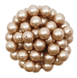 581008PWDALM - 8mm Swarovski Crystal Powder Almond Pearls - 1 Count