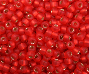 Miyuki 5/0 E Seed Beads 5E140SF TSL MA Red Orange 10 Grams