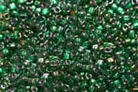 Miyuki 5/0 Triangle Beads 10 Grams 5TR1812 ICL Med. Green/Dk. Green
