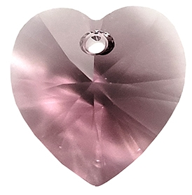 622814IRIS - 14mm Swarovski Crystal Heart Drop Crystal - Iris - 1 count