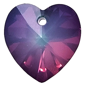 622814WOELEC - 14mm Swarovski Crystal Heart Drop Crystal - White Opal Electra - 1 count