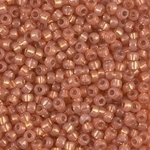 Miyuki Rocaille 8/0 Seed Beads 8RR4233 Duracoat Silver Lined Peach Miyuki Rocailles 10 Grams