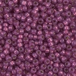 Miyuki Rocaille 8/0 Seed Beads 10 Grams 8RR4247 Duracoat Silver Lined Fuchsia
