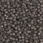 Miyuki Rocaille 8/0 Seed Beads 10 Grams 8RR4250 Duracoat Silver Lined Charcoal
