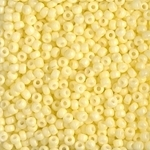 Miyuki Rocaille 8/0 Seed Beads 8RR4451 - Duracoat Opaque Dyed Rocailles - Lemon Silk - 10 Grams