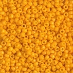 Miyuki Rocaille 8/0 Seed Beads 8RR4453 - Duracoat Opaque Dyed Rocailles - Yellow Marigold - 10 Grams