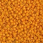 Miyuki Rocaille 8/0 Seed Beads 8RR4454 - Duracoat Opaque Dyed Rocailles - Cheddar Orange - 10 Grams