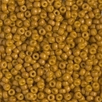 Miyuki Rocaille 8/0 Seed Beads 8RR4456 - Duracoat Opaque Dyed Rocailles - Carmel - 10 Grams