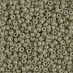 Miyuki Rocaille 8/0 Seed Beads 8RR4474 - Duracoat Opaque Dyed Rocailles - Khaki Green - 10 Grams