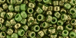 Toho 8/0 Round 8TO1702 - Gilded Marble Green - 10 Grams