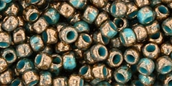 Toho 8/0 Round 8TO1703 - Gilded Marble Turquoise Seed Beads - 10 Grams