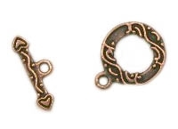 Antiqued Copper Finish Toggle Clasp - 13mm