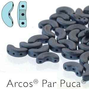Arcos par Puca : ARC510-23980-79031 - Metallic Matte Blue - 25 Beads