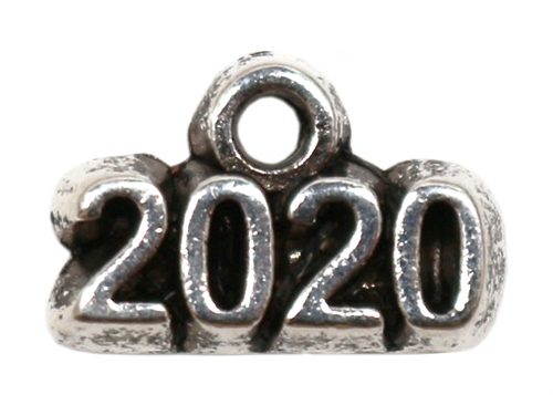 Antique Silver Plated Pewter Charm - 2020 - 1 Charm