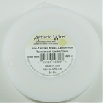 Artistic Wire Non Tarnish Brass 24ga Wire - 1/4 Pound Spool, approx 66 yds