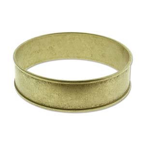 BR2455 - Raw Brass Bracelet Bangle - 3/4 Inch - ID 66.5mm