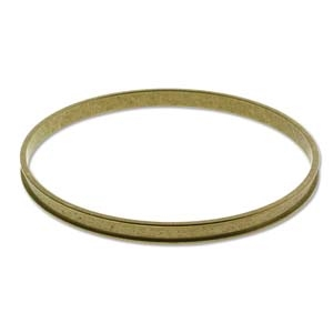 BR2457 - Raw Brass Bracelet Bangle - 3/16 Inch - ID 65mm