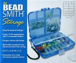 the BeadSmith Blue Mini Travel Box