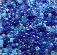 BeadSmith 22 grams Bead Soup ~ Blue Tones