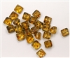 8mm Czech Glass Pyramid 2-Hole Beadstud - BST08-00030-86800 - Crystal Picasso - 4 Beads