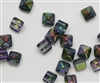 8mm Czech Glass Pyramid 2-Hole Beadstud - BST08-95500 - Magtic Lilac - 4 Beads