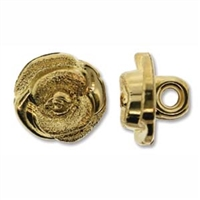 Metalized 13mm Gold Plastic Button - 1 Piece