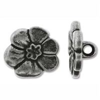 Antique Tin Full Metal 18mm Button - 1 Piece